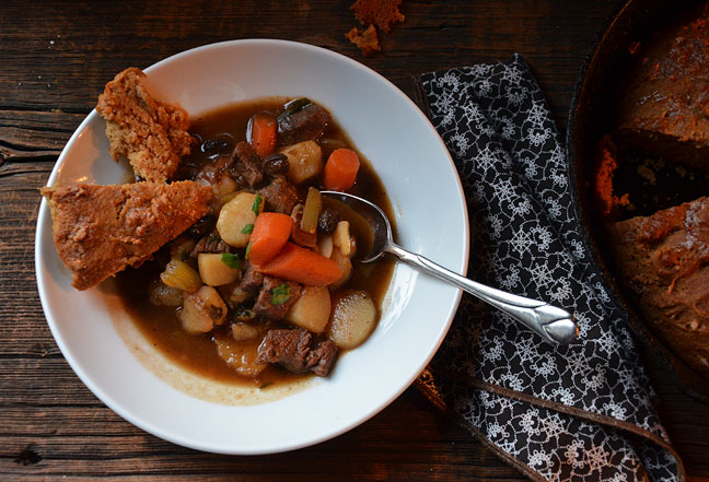 Beef and Guinness Stew with Skillet Bread