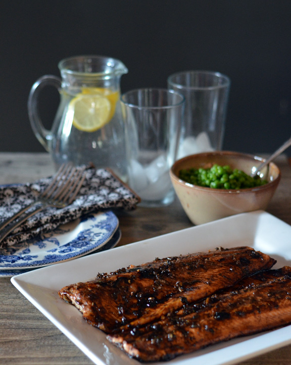 Salmon with Balsamic Reduction
