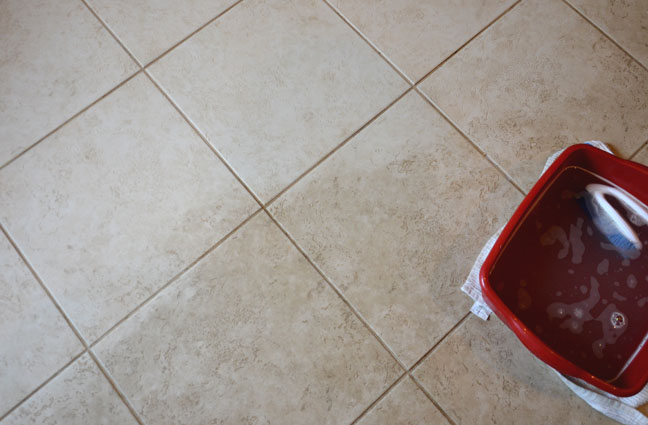How to clean your tile floor. She s a filthy  dirty floor