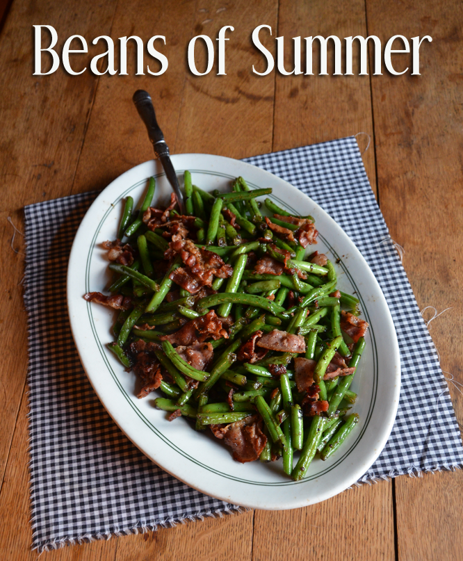 how to cook garden green beans with bacon