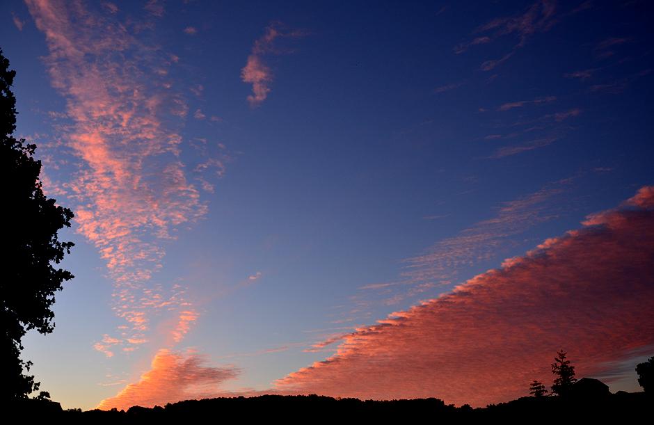 Pretty in pink at sunrise over Tuckaway Farm.