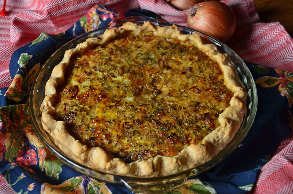 Cheddar Onion Pie