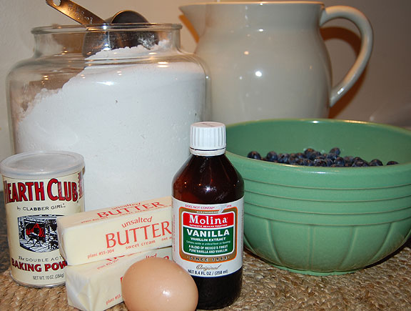 Blueberry buckle ingredients