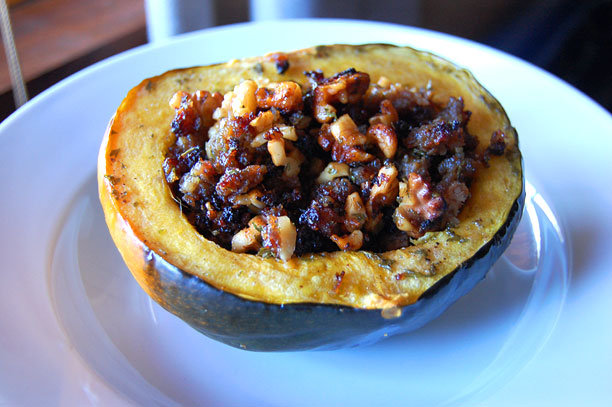 Stuffed Acorn Squash - FarmgirlFollies.com