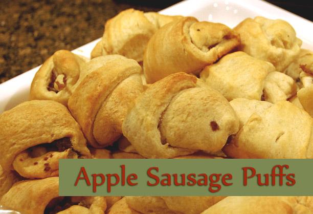 Apple Sausage Puffs - Farmgirl Follies