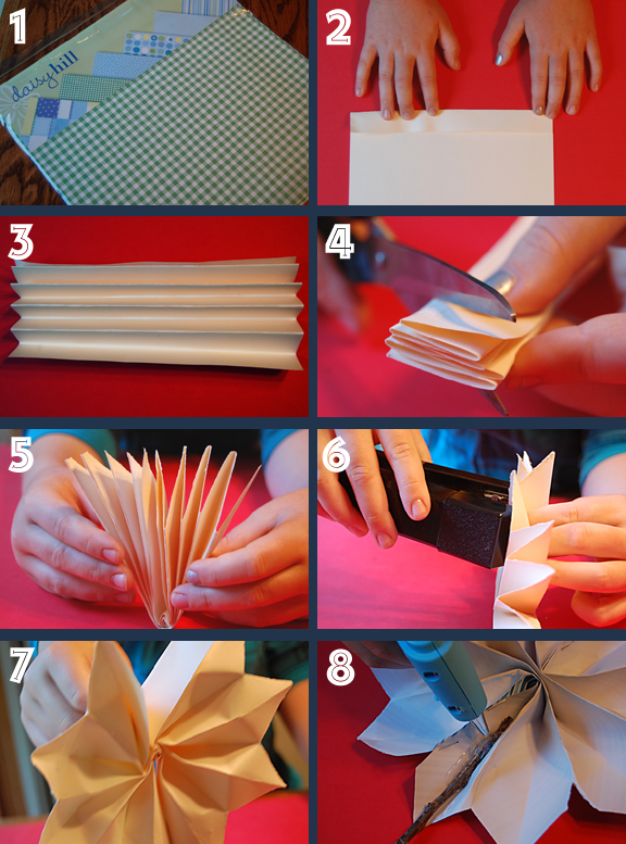 Firecracker pinwheel project - step by step