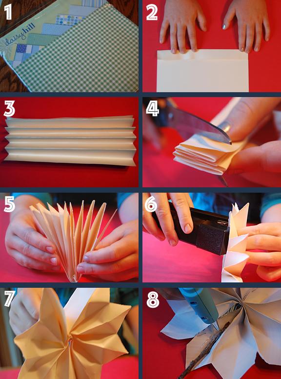 Firecracker pinwheel project - step by step