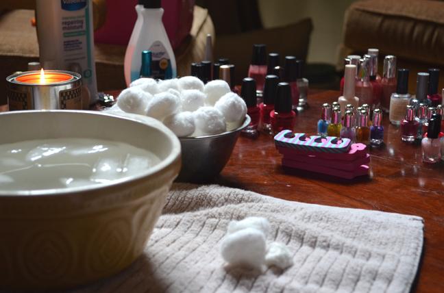 Cotton balls and nail polish