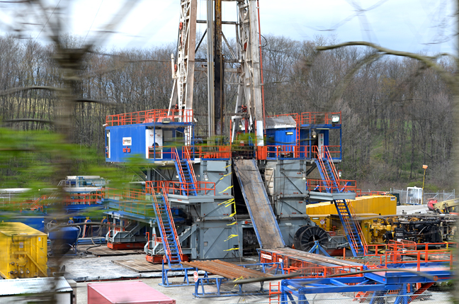 drilling rig gas well ohio