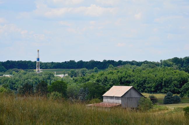 Gas well on farm