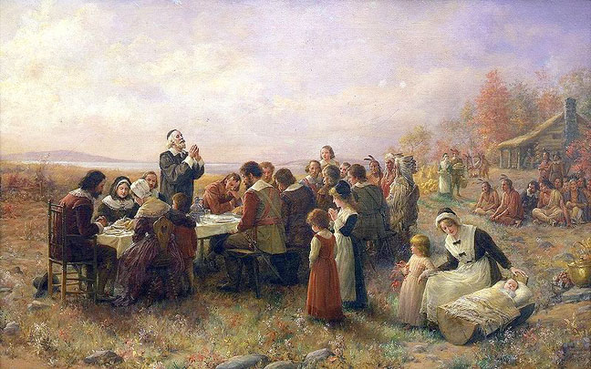 First Thanksgiving at Plymouth 1914