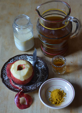 ingredients for curried apple soup