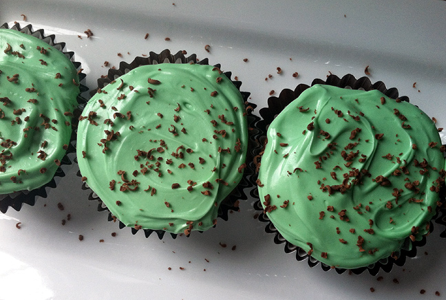 Lucky Mint Cupcakes