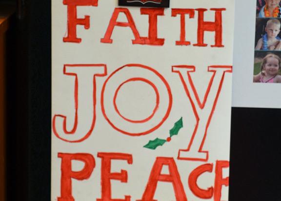Faith joy peace