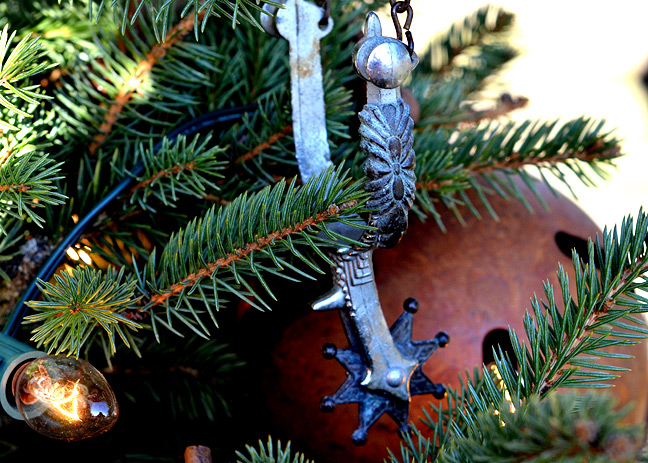 Spurs on Christmas tree