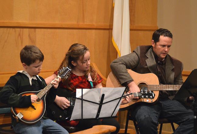 Mandolin, electric guitar and accoustic guitar