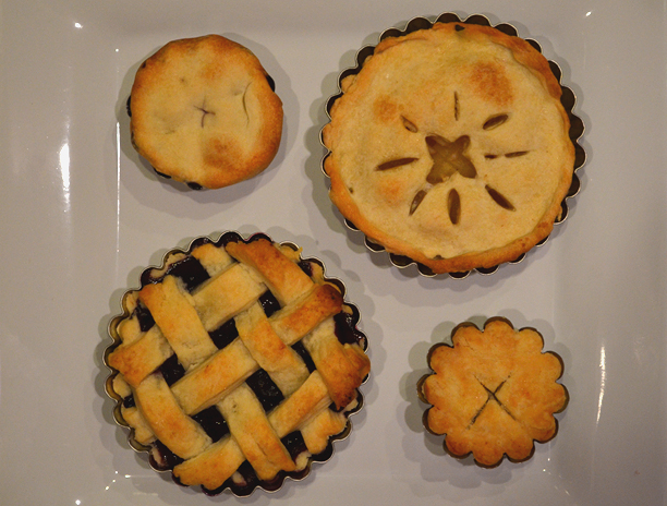 Mini pies in tart pans