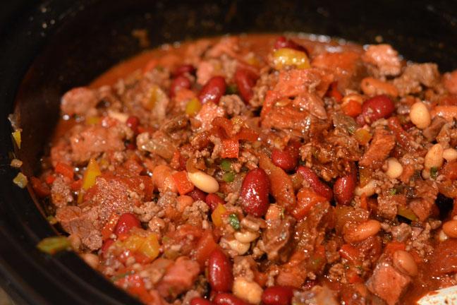 Prime Rib Chili in Crock Pot
