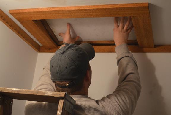 Climbing into the attic