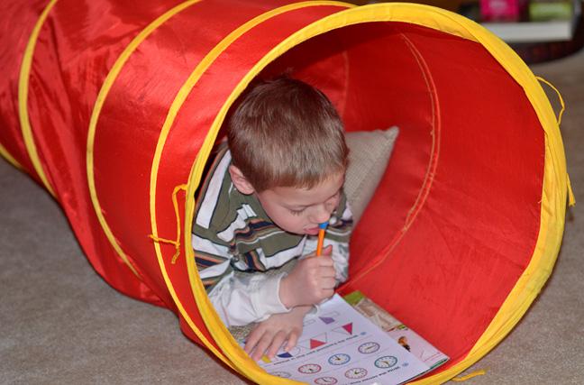 Tunnel Math - homeschooling at FarmgirlFollies.com