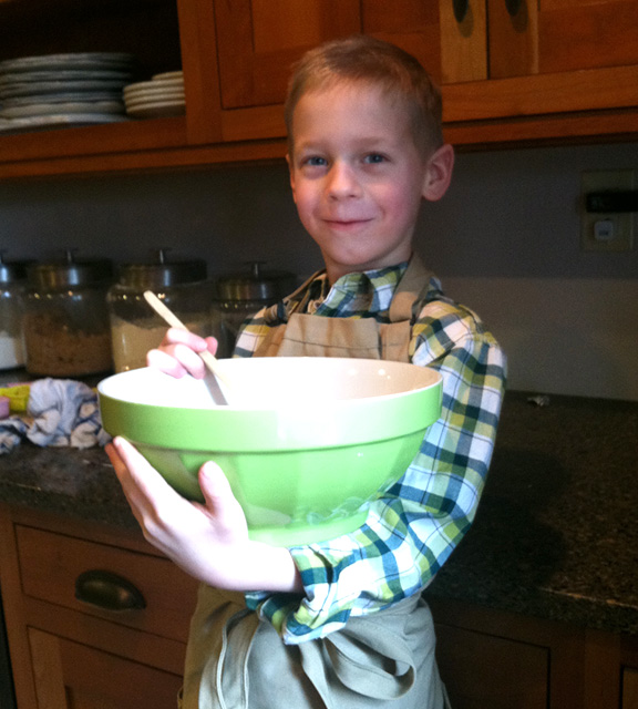 Baking with little boys