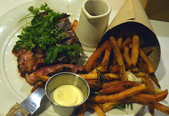 Steak and frites at Greenhouse Tavern - Cleveland