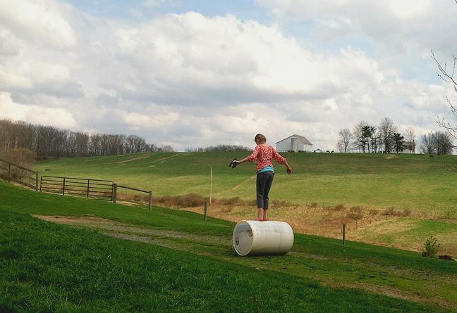Barrel walking