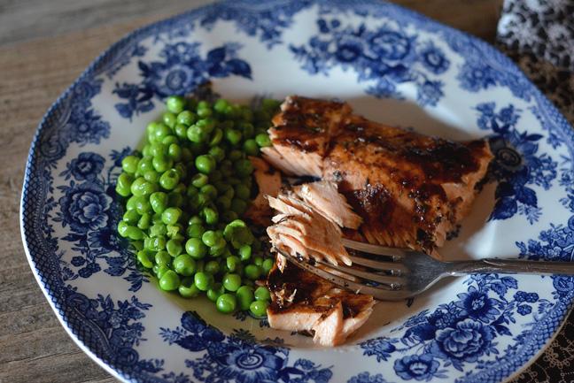 salmon and peas