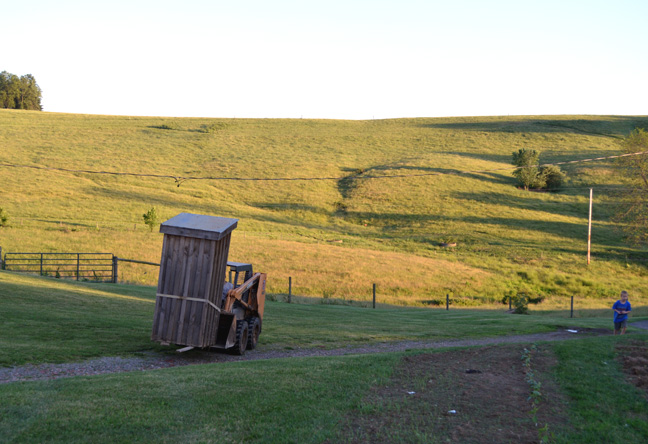 moving the outhouse