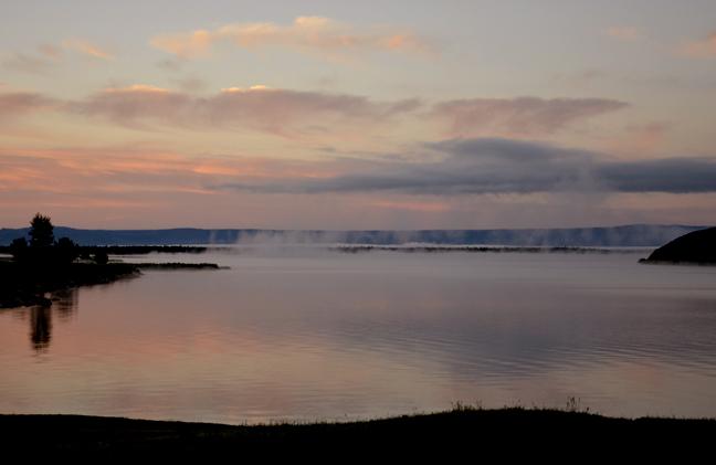 Hebgen Lake in early morning