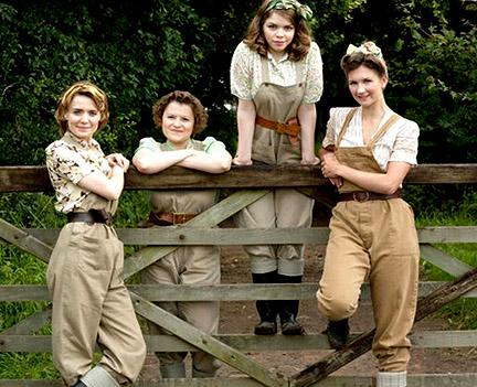 BBC series Land Girls about the Women's Land Army during WWII.