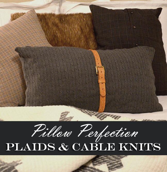 Repurposed Plaid for Pillows - Farmgirl Follies