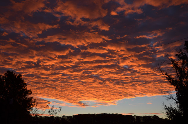 Amazing November sunrise
