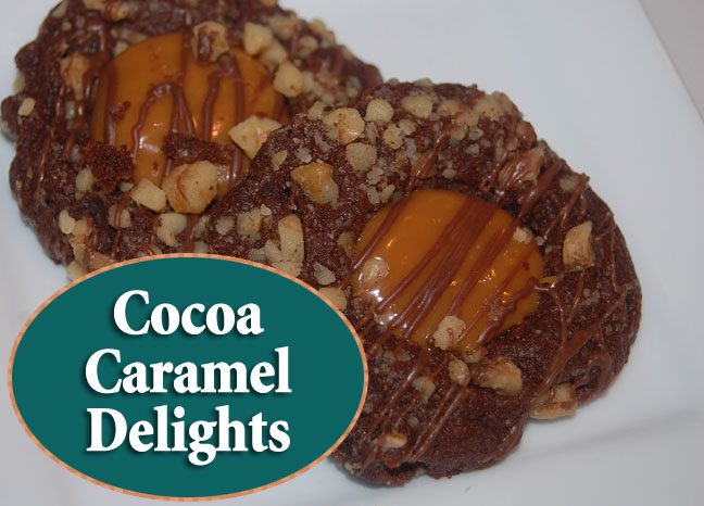 Cocoa Caramel Delights - Christmas cookie recipe
