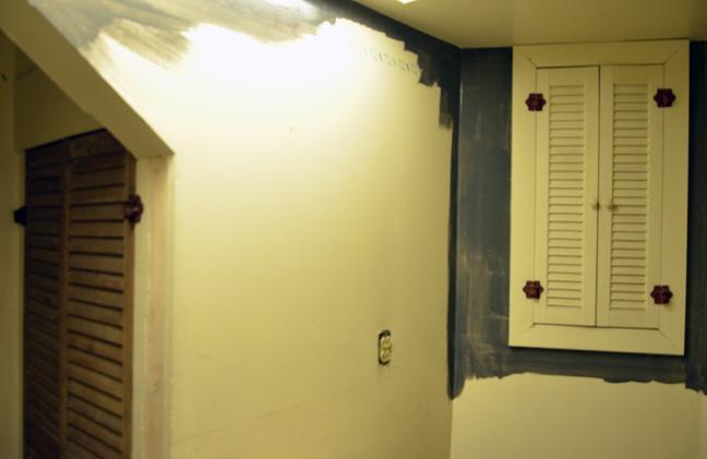 updating basement shower room