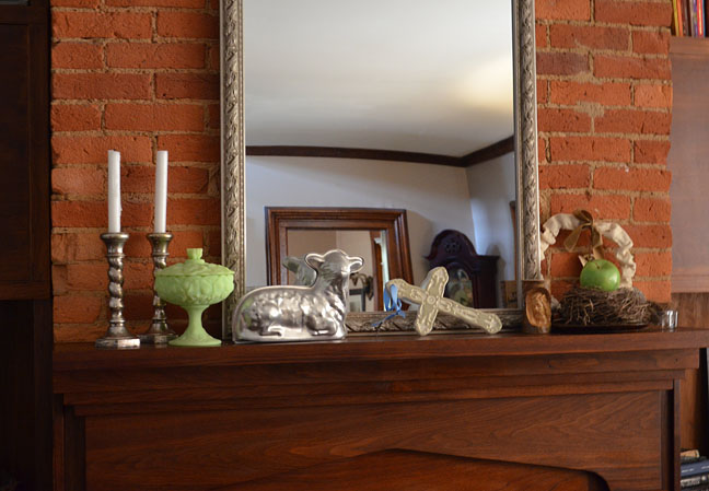 Easter mantel for spring