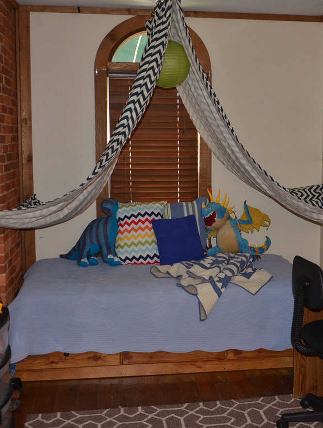 Boy's bedroom tent.