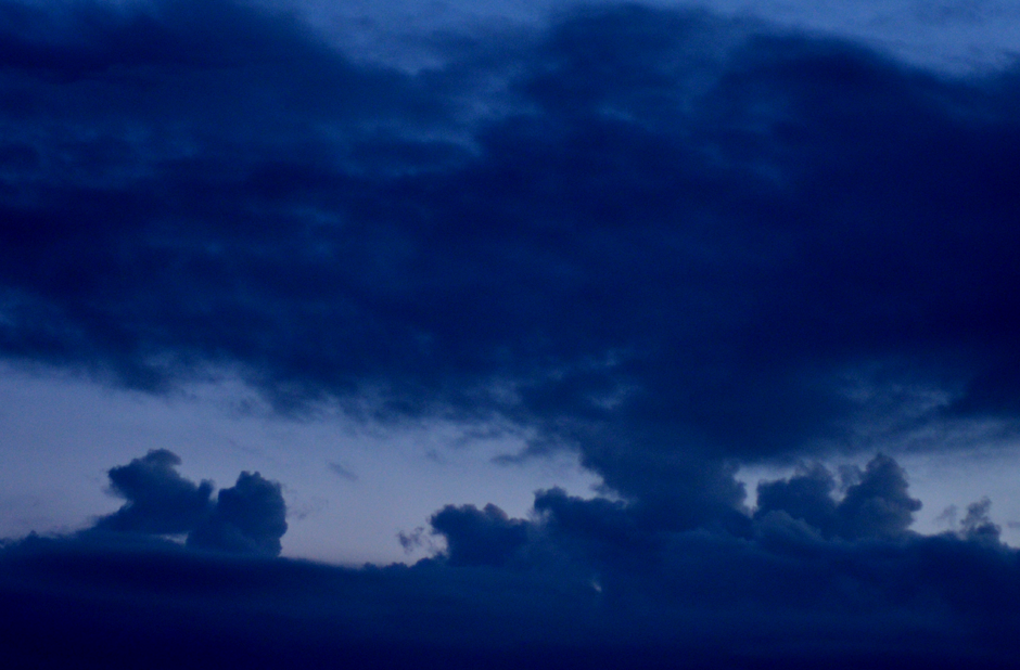 Blue clouds in evening