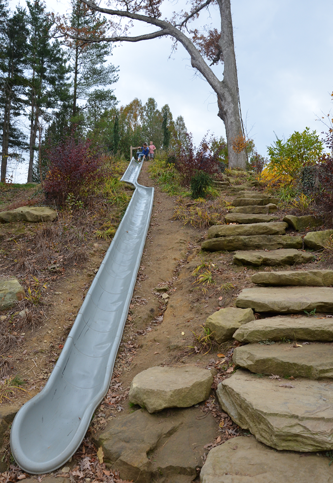 Sliding into autumn at Secrest Arboretum in Wooster, Ohio.