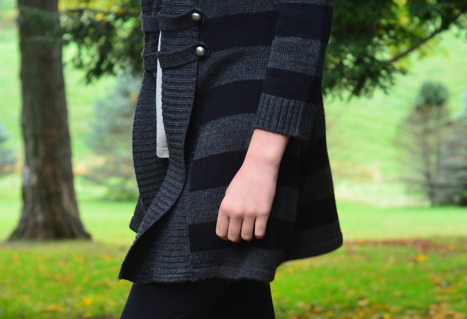 Cozy sweaters are divine for fall and winter weather. Pick them up at a thrift store.