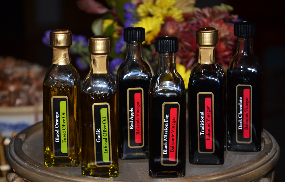 Balsamic vinegars and olive oils