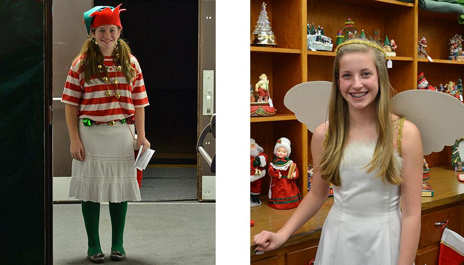 Jingle the elf and Angelica Angel