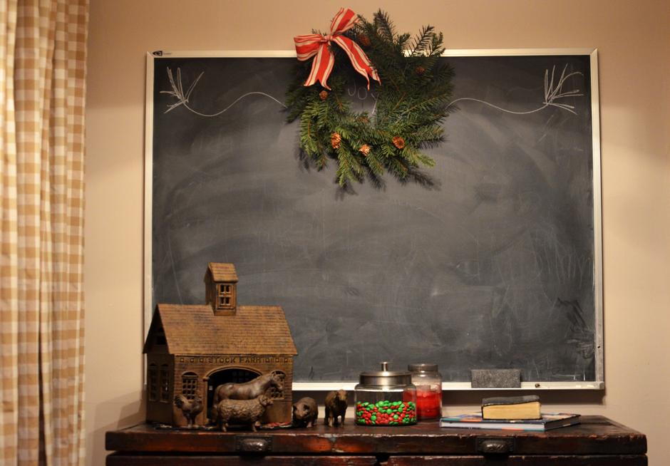 Chalkboard at Christmas
