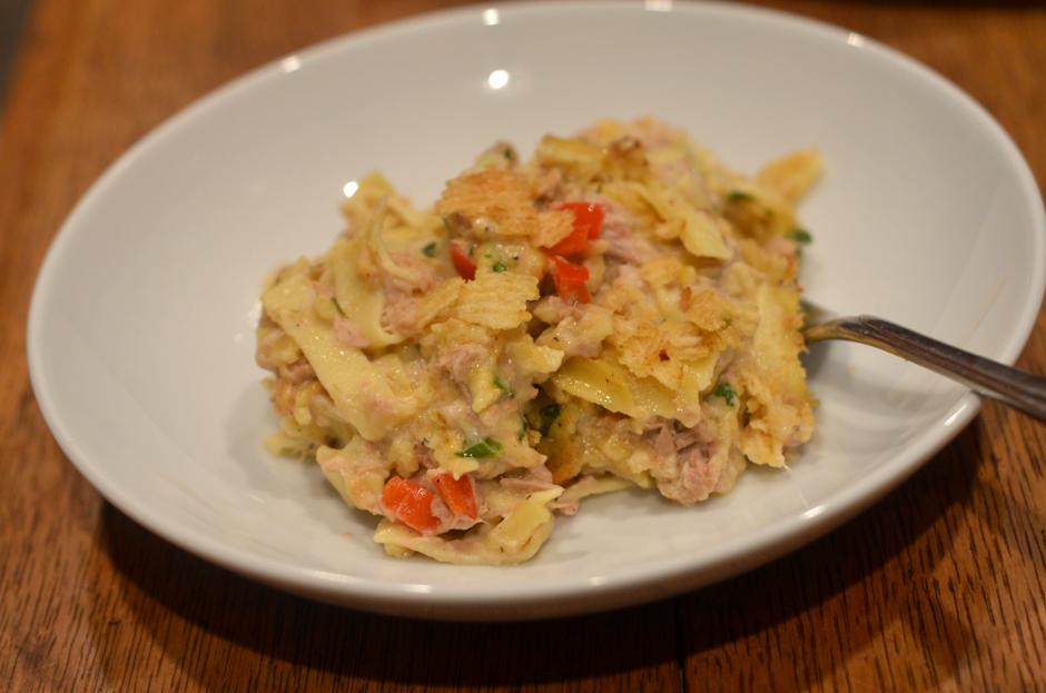 how to make tuna casserole with cream of mushroom soup