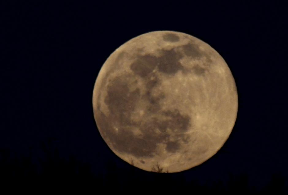 Moon over Tuckaway Farm in May 2015