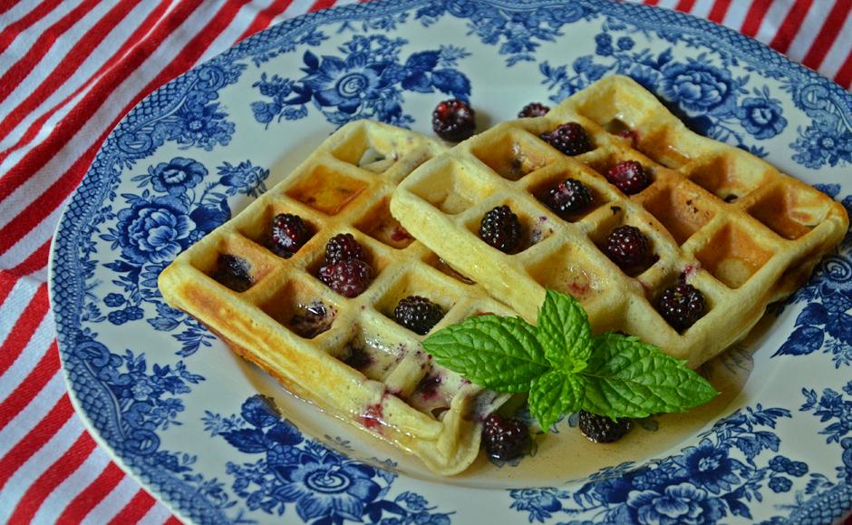 Fresh Berry Belgium Waffles