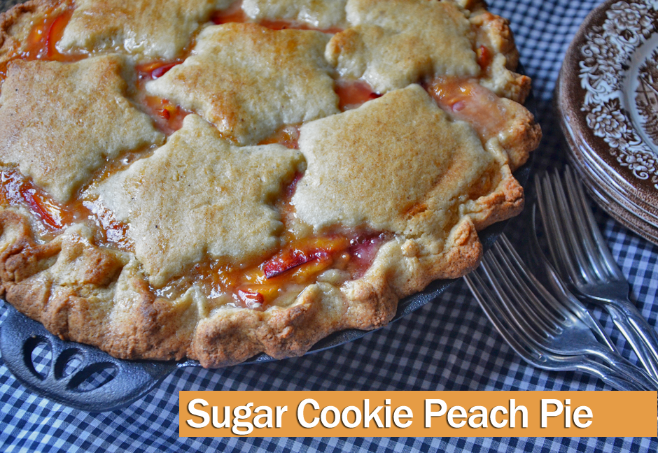 Sugar Cookie Peach Pie
