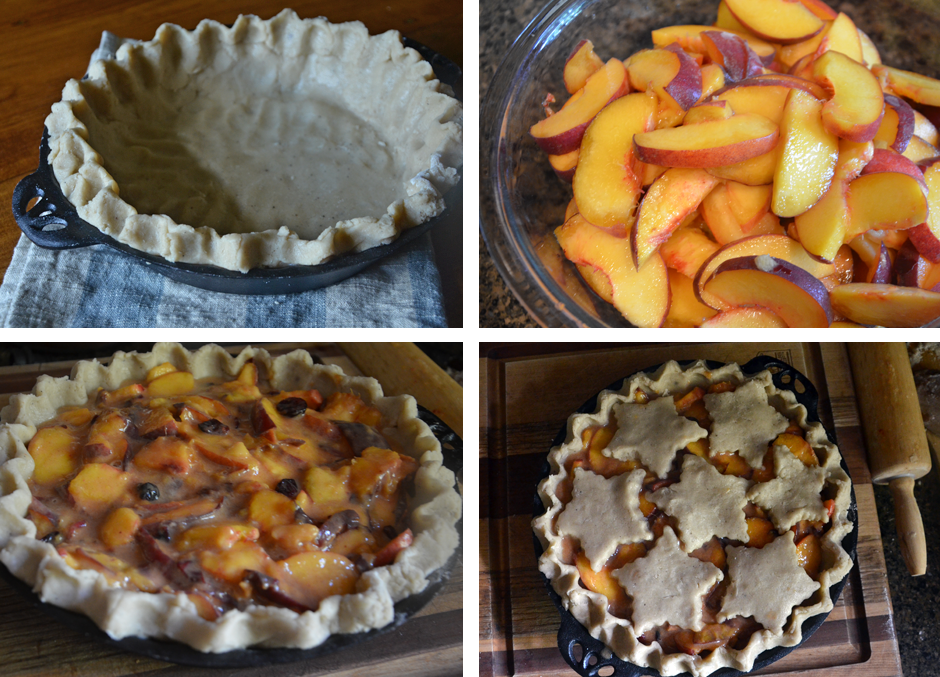 Sugar Cookie Peach Pie recipe