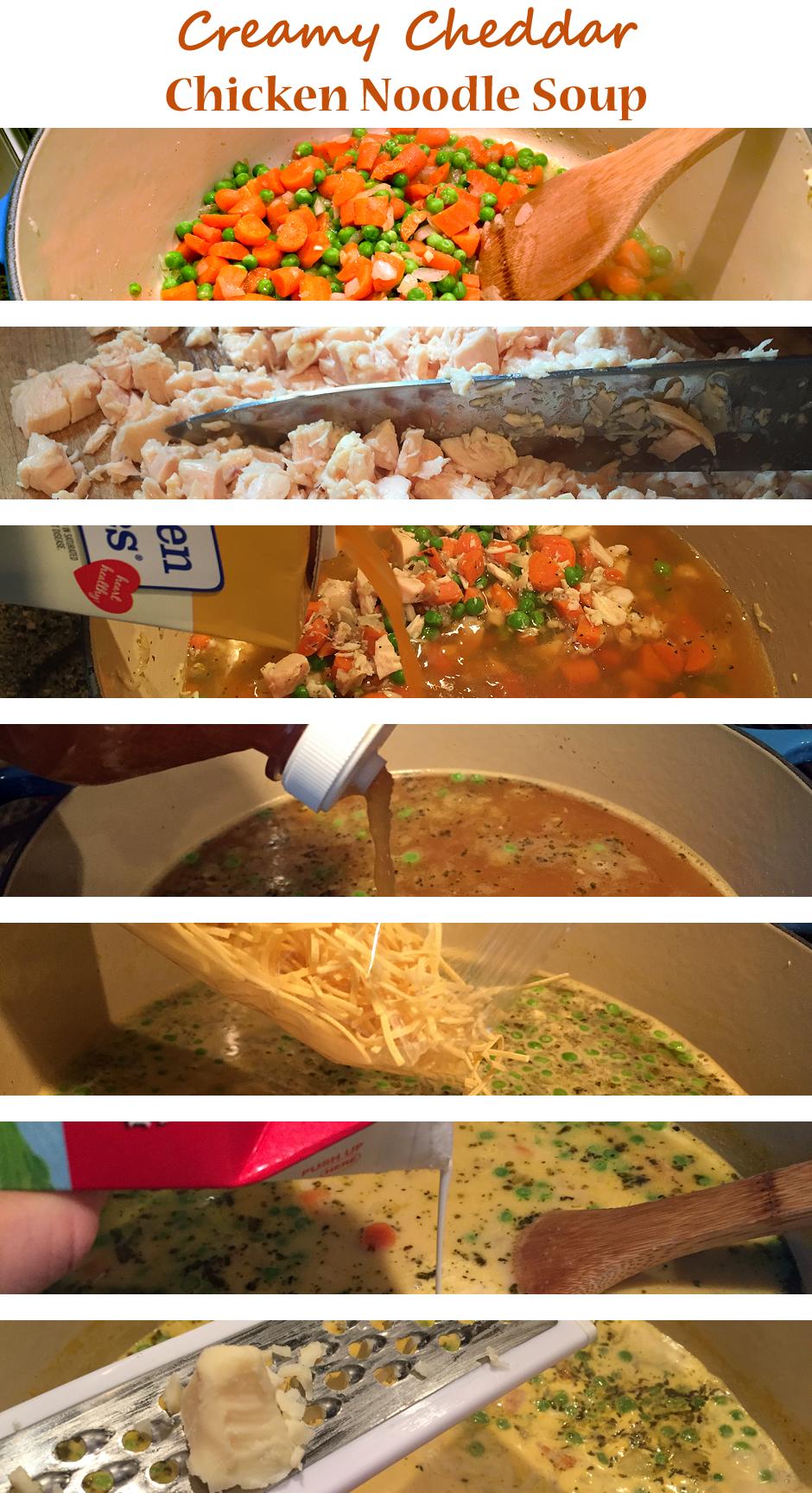 Creamy Cheddar Chicken Noodle Soup
