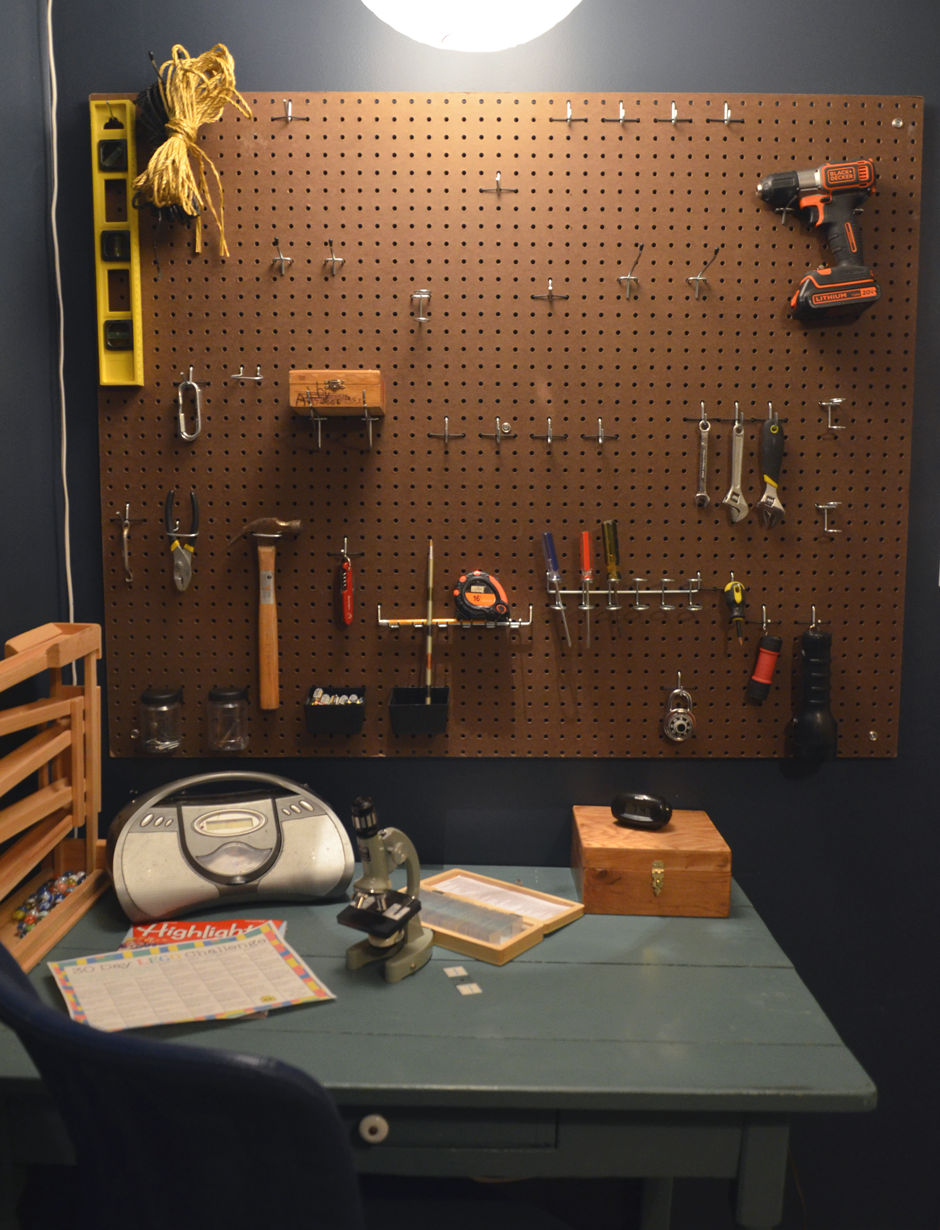 How to organize a boy and his tools.